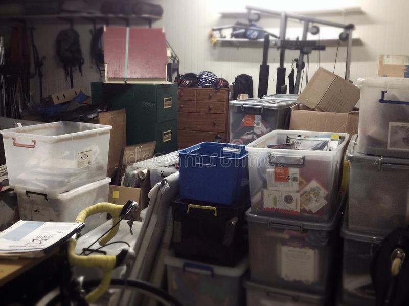 Full Messy Storage Shed Stock Photo Image Of Moving