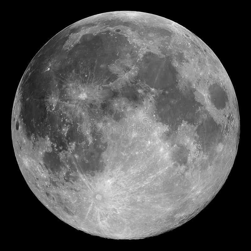 Full moon. The full Moon, photographed through a 0.2-metre telescope