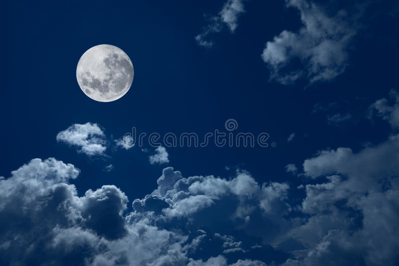 Download Full moon stock photo. Image of blue, cloudscape, illuminated - 12124478