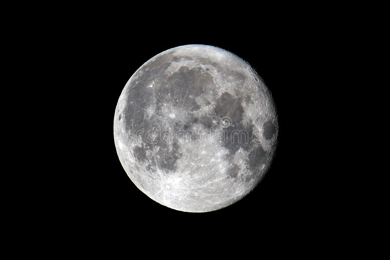 Full Moon. Against A Black Sky February 19, 2011