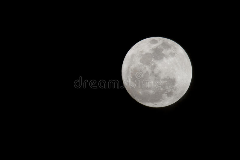 Full Moon. A bright full moon on a clear night's sky royalty free stock photos
