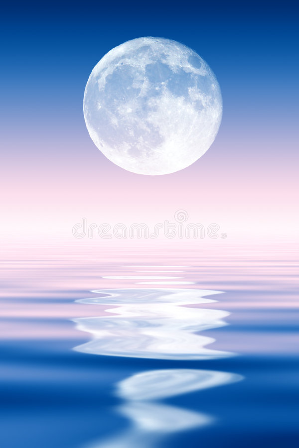 Full Moon. Rising over ocean royalty free stock photography