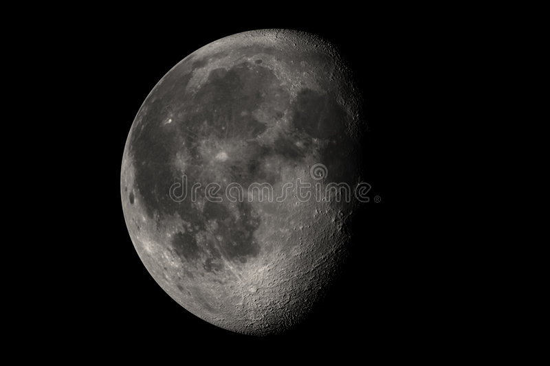 Download Almost full moon stock illustration. Illustration of craters - 25951