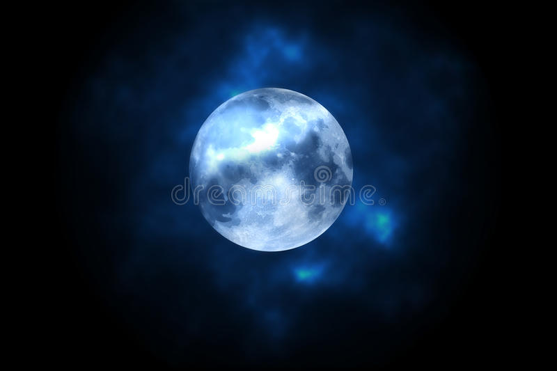 Download Full moon stock illustration. Image of lunar, bright - 26411782