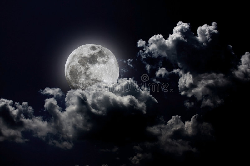 Download Full Moon stock image. Image of night, moon, cloud, craters - 5739025