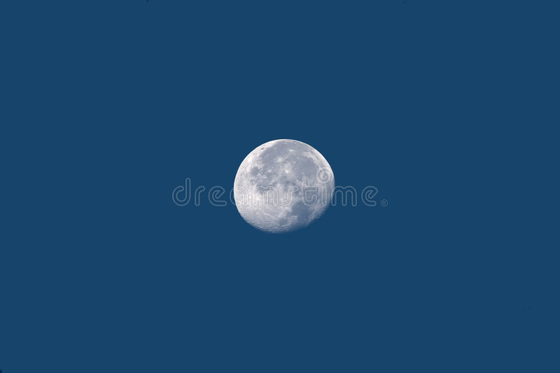Full-Moon. A full-moon in daylight royalty free stock image