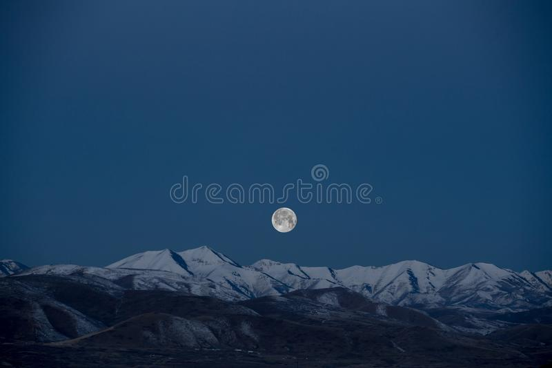 Full Moon Above Mountains Free Public Domain Cc0 Image