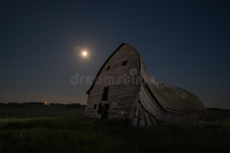 Full moon barn royalty free stock photo