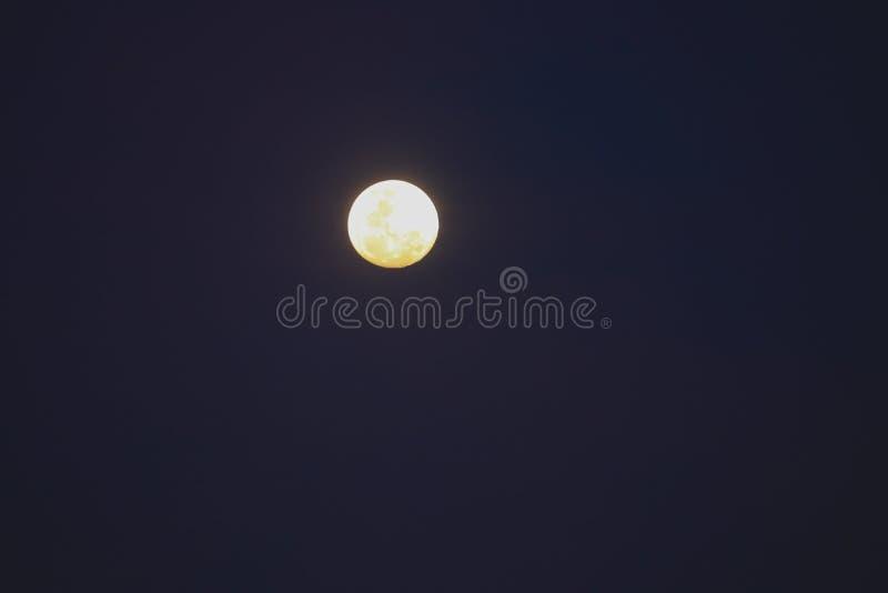 Full moon beautiful over dark sky in night royalty free stock image