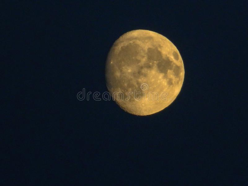 The full moon in Central Russia. Full moon. Full moon night with the surrounding landscape at dusk and creates a special flavor of the landscape. This shot royalty free stock photography