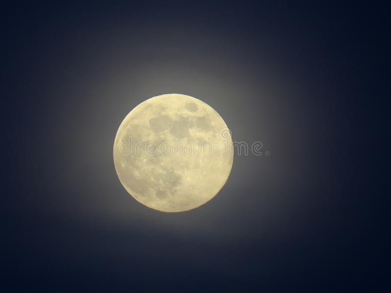 Full moon close up on a dark sky. Background royalty free stock photos