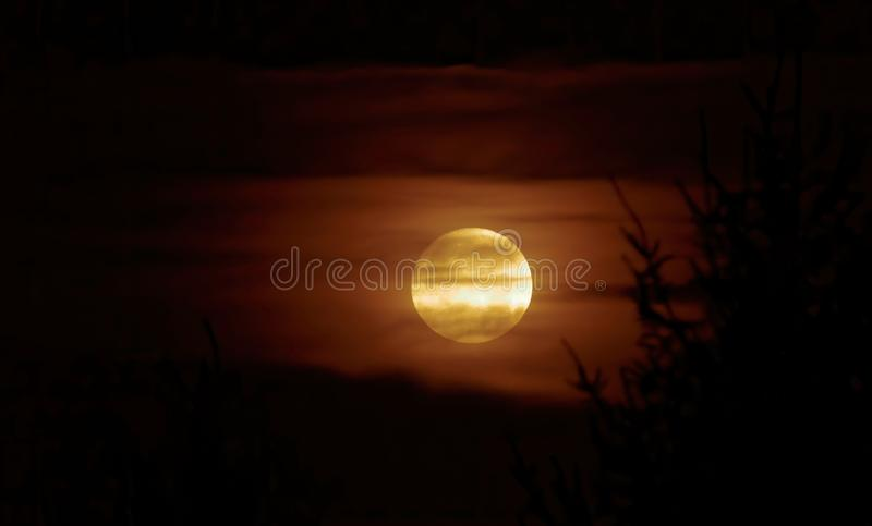 Full moon and cloud. stock images