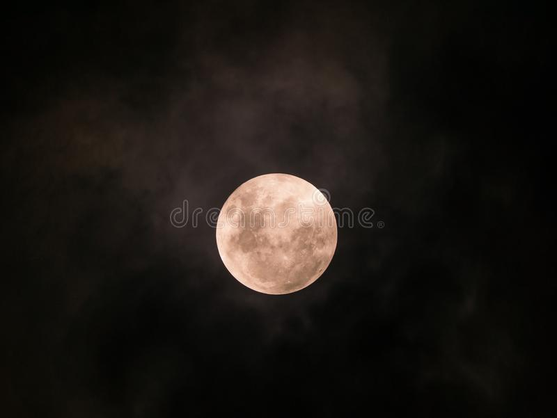 Full Moon with Cloud royalty free stock photos
