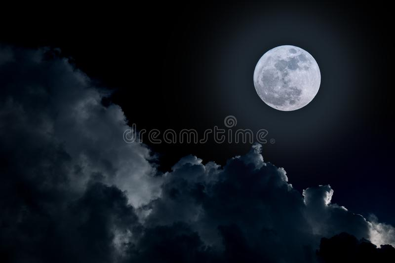 Full moon and cloud. Full moon in cloudy day stock photography