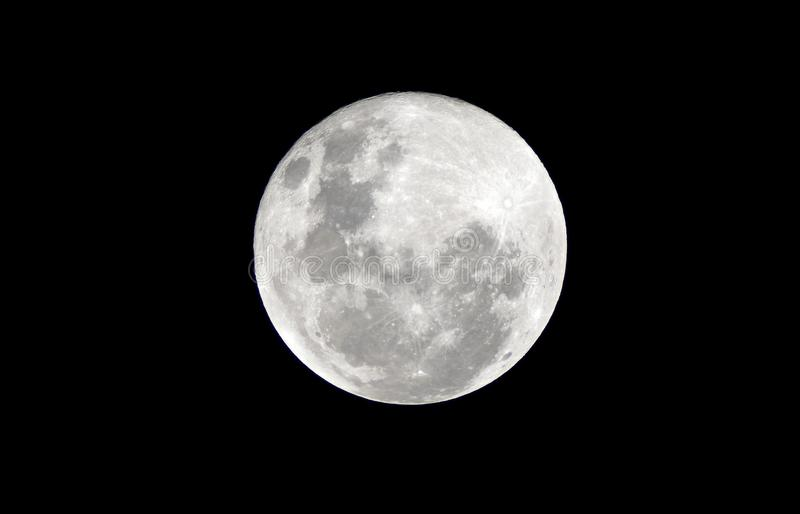 Full moon on the dark night royalty free stock image