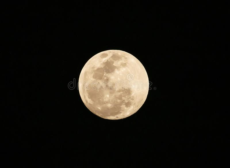 Full moon on the dark night stock image