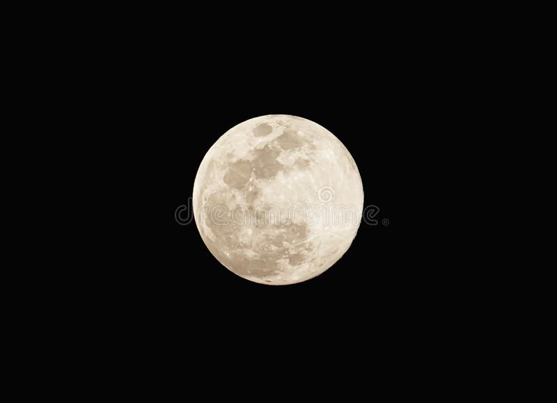 Full moon on the dark night royalty free stock images