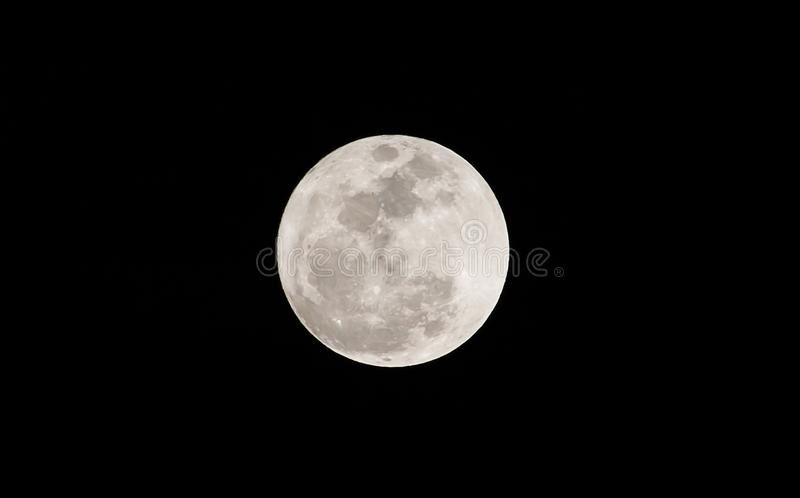 Full moon on the dark night. stock photography
