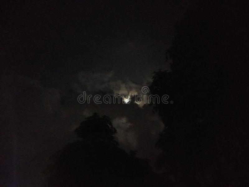 Full moon day with cloud royalty free stock photos