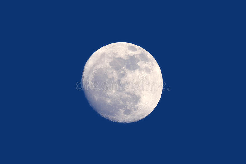 Full moon daytime royalty free stock images