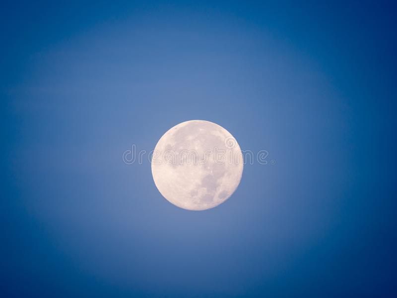 Full Moon in The Daytime stock photos