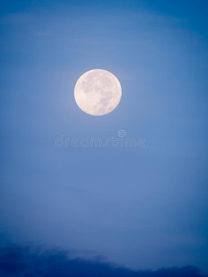Full Moon in The Daytime royalty free stock photography