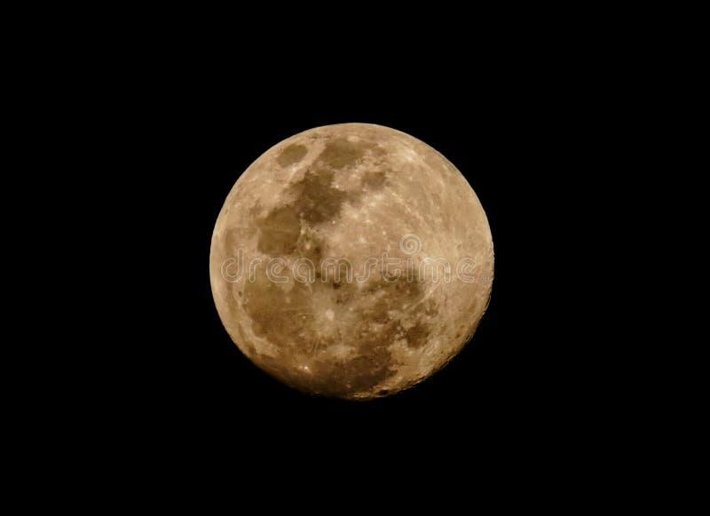 Full moon. Of February 2019 stock illustration
