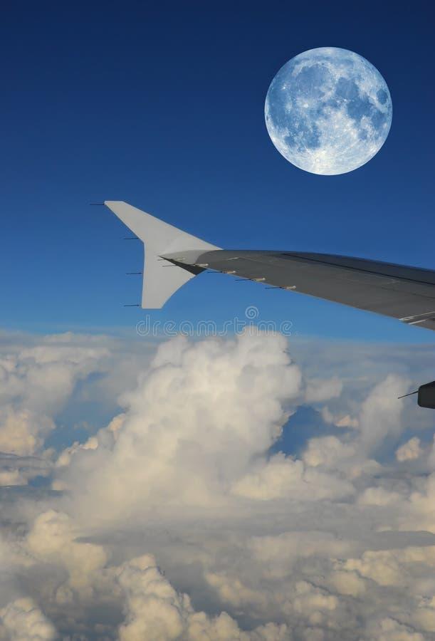 Full moon flight royalty free stock photo