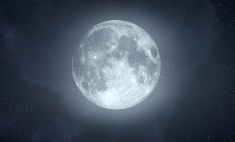 Full Moon with glow effect royalty free stock photography