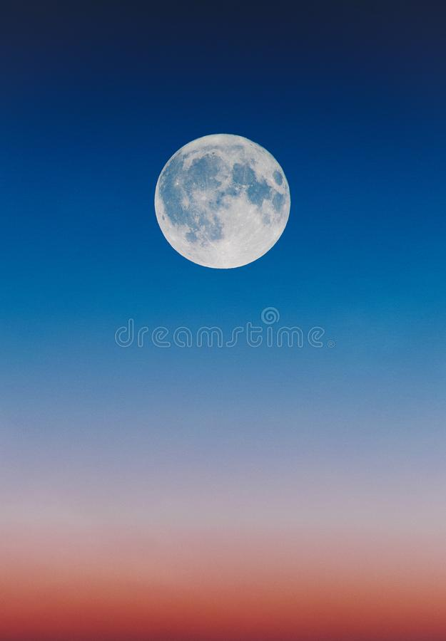 Full Moon Illustration royalty free stock photo