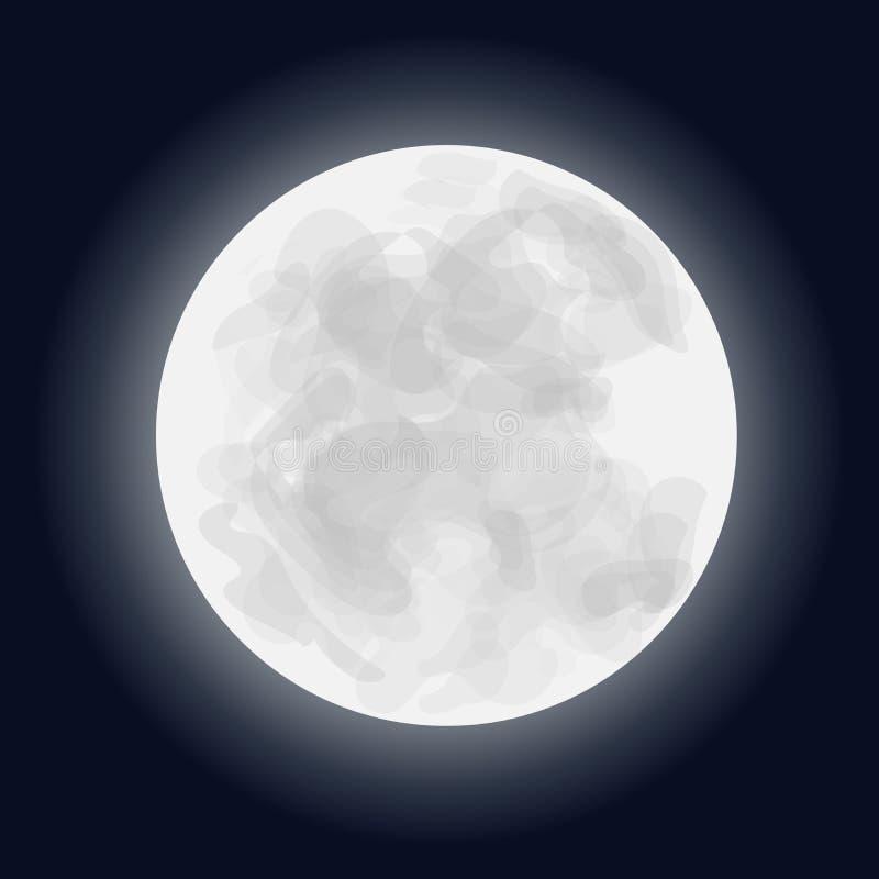 Full moon vector illustration