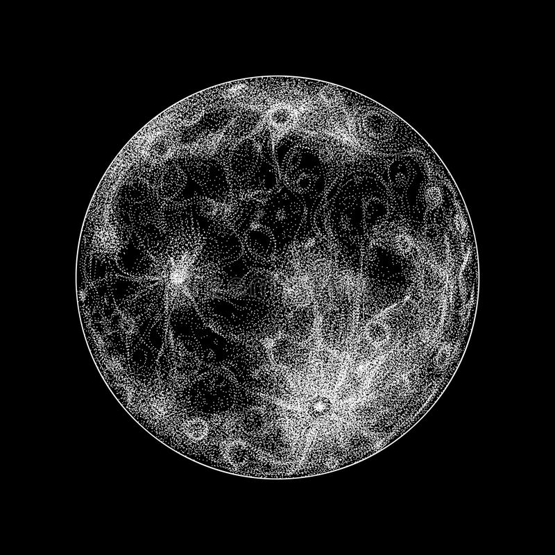 Full moon illustration royalty free illustration