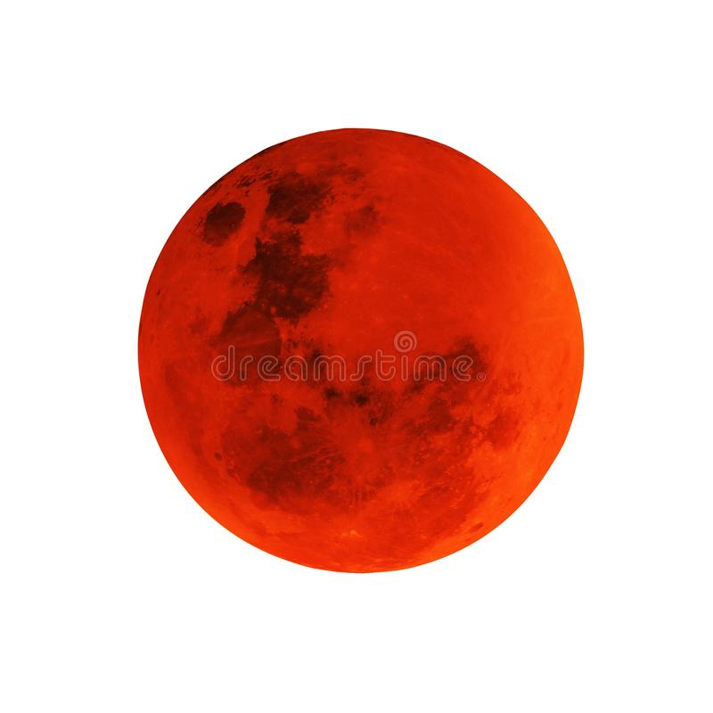 Full moon isolated. stock images
