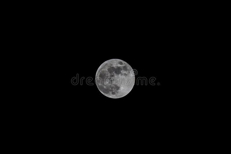Full moon just after lunar eclipse from thailand royalty free stock photos