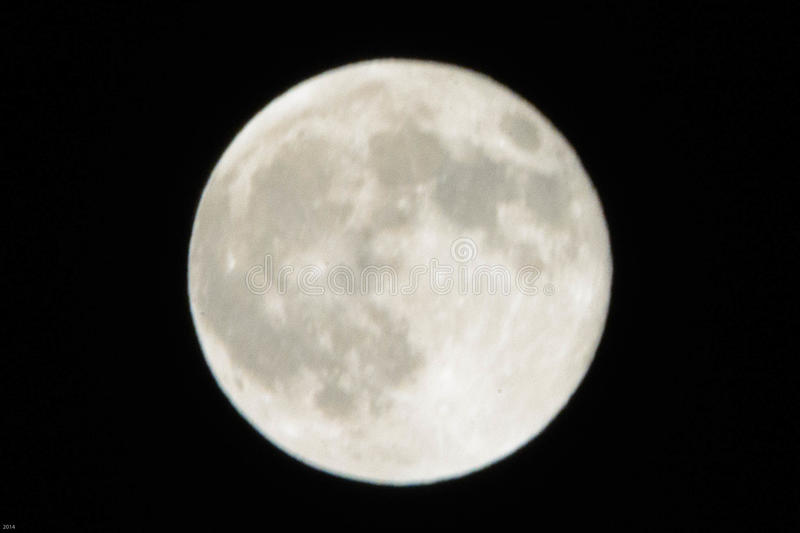 Full Moon from Los Angeles stock photography