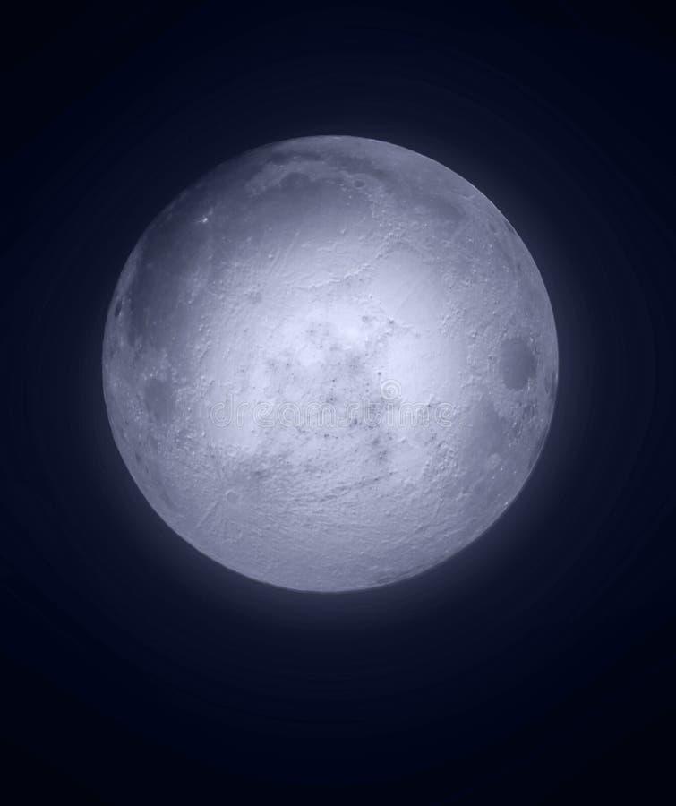 Full Moon at night. The full moon in the night sky royalty free illustration