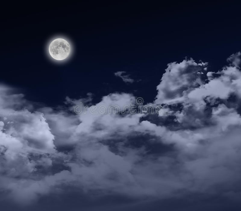 Download Full moon by night stock image. Image of backgrounds - 26821761