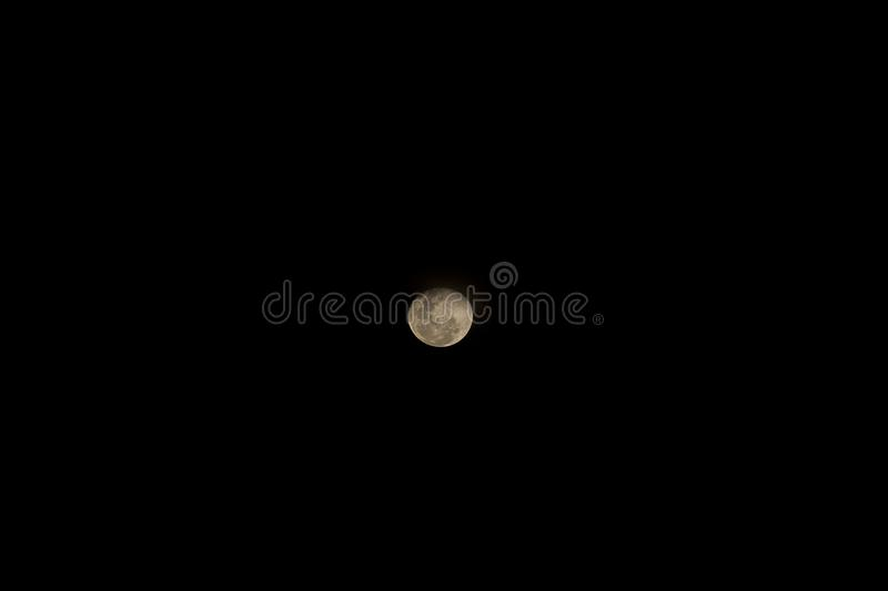 A full moon at night royalty free stock photography
