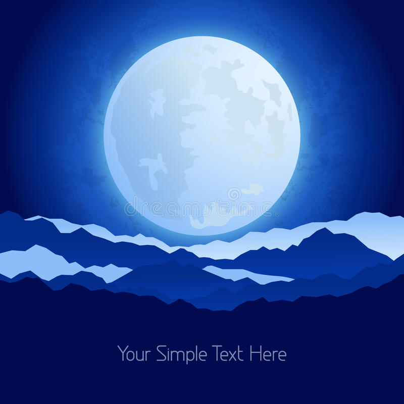 The full moon in the night sky background. This is file of EPS10 format vector illustration