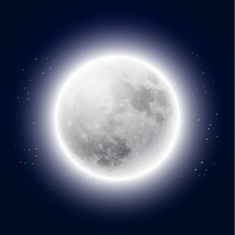 Full moon in the night sky. EPS10 vector vector illustration