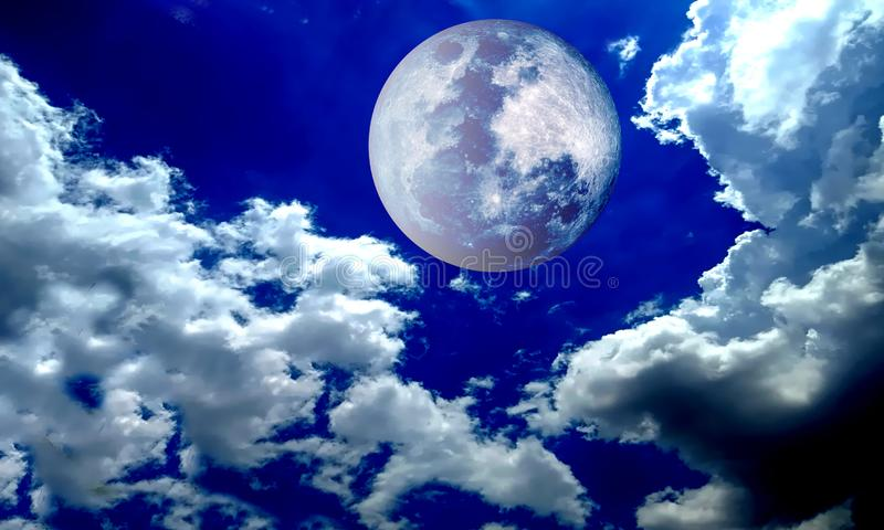 Full moon night sky. vector illustration. Many uses for advertising, book page, paintings, printing, mobile backgrounds, book, covers, screen savers, web page stock photos