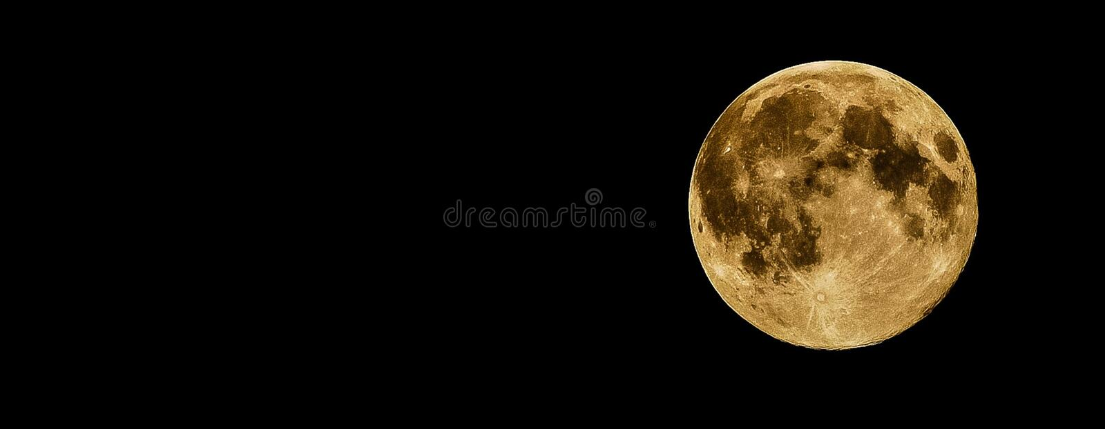 Full Moon during Night Time royalty free stock images