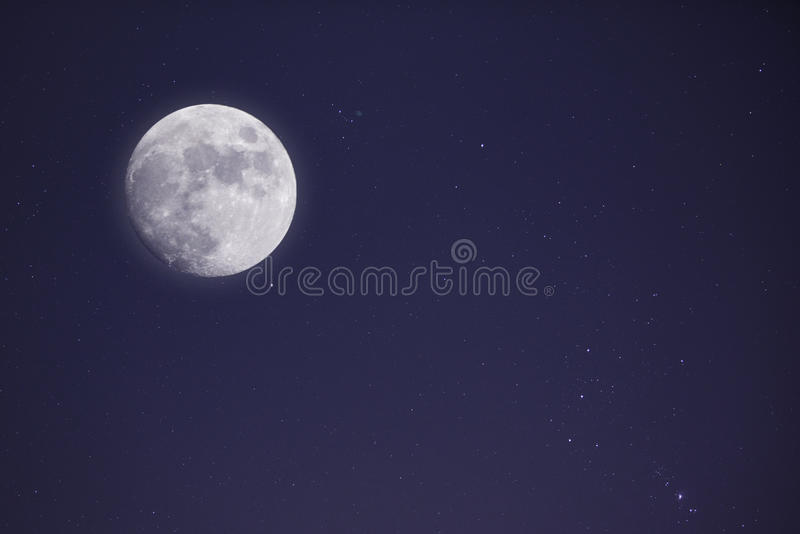 Download Full Moon And Nightsky With Stars Stock Photo - Image of moon, full: 36667972
