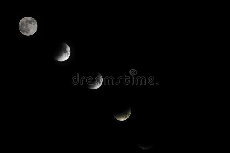 Full moon o a dark sky stock photography