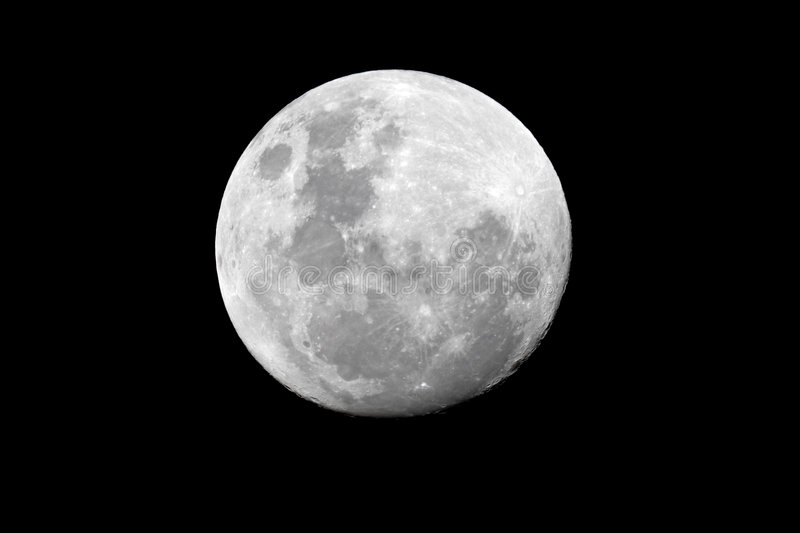 Full moon over the African continent royalty free stock photos