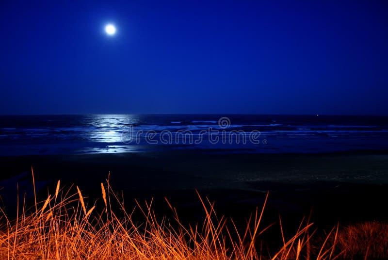 Full moon over Newport Beach royalty free stock photography