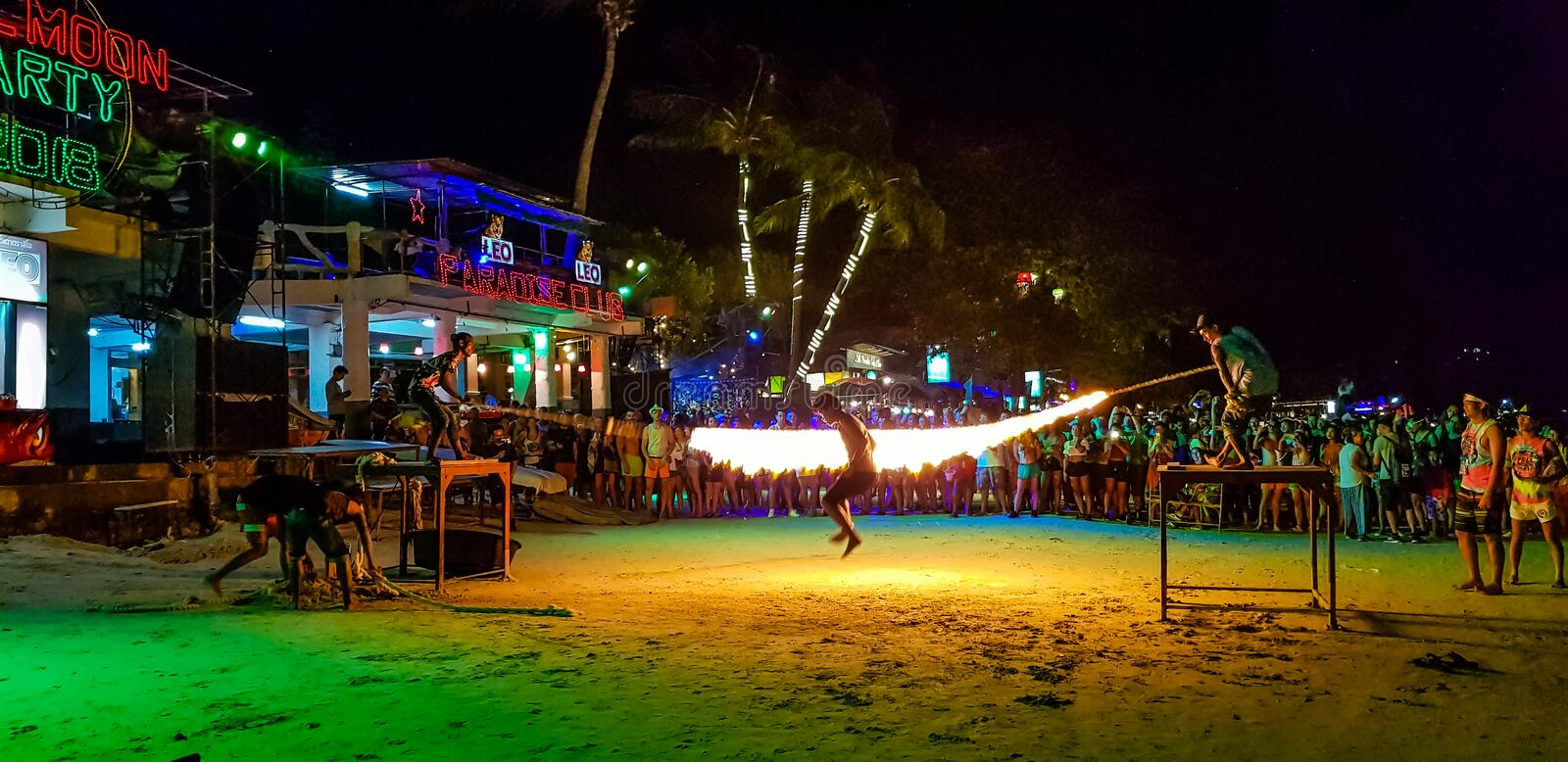 Full moon party royalty free stock photos