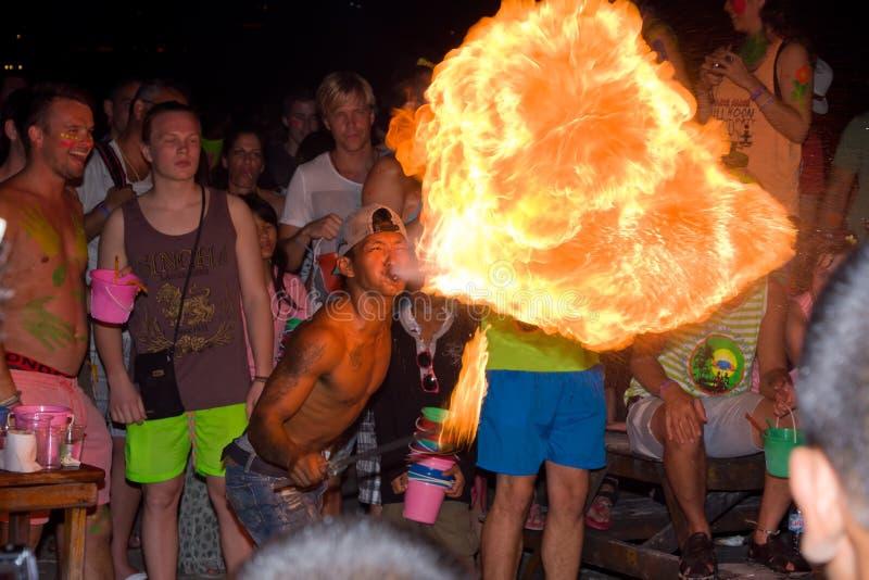 Full moon party, Thailand royalty free stock photos