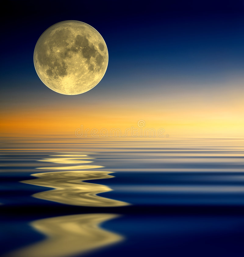 full moon reflection απεικόνιση αποθεμάτων