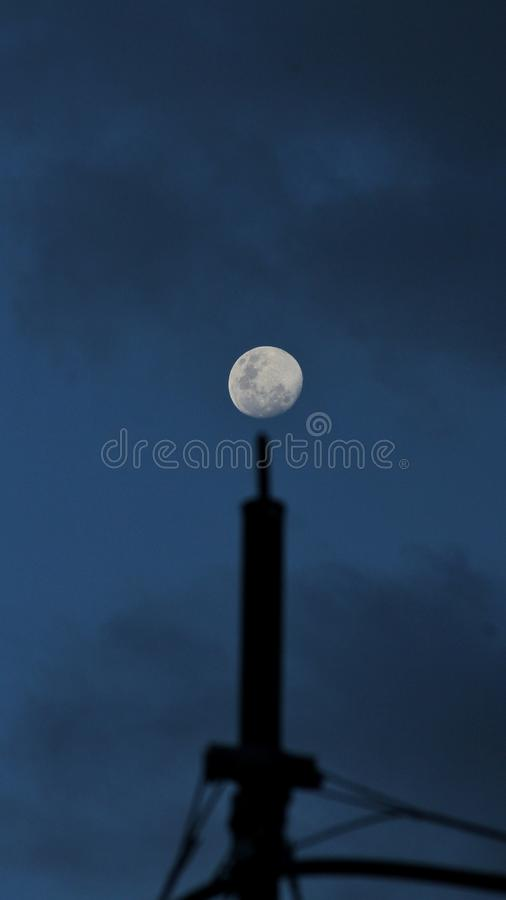 Full moon on the rise royalty free stock images